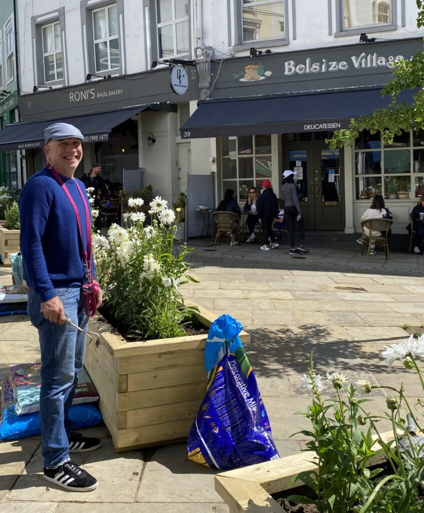 2020-07-10 (Belsize Village) Richard Lagani on duty
