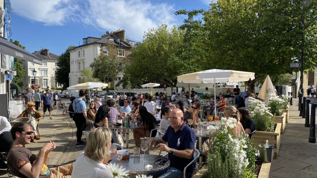 Belsize Village Summer Streatery July 18, 2020 lunc